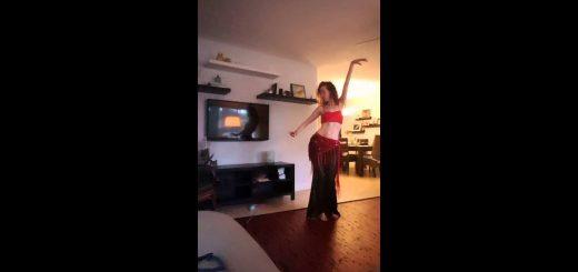 目の前でベリーダンスを踊られた猫、不満の矛先カメラに向ける